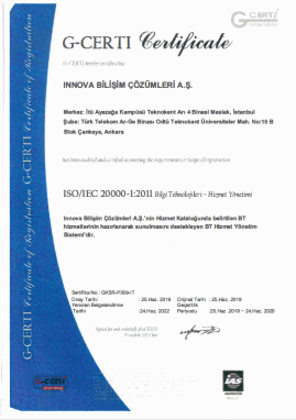 TS ISO/IEC 20000-1:2011 IT Service Management